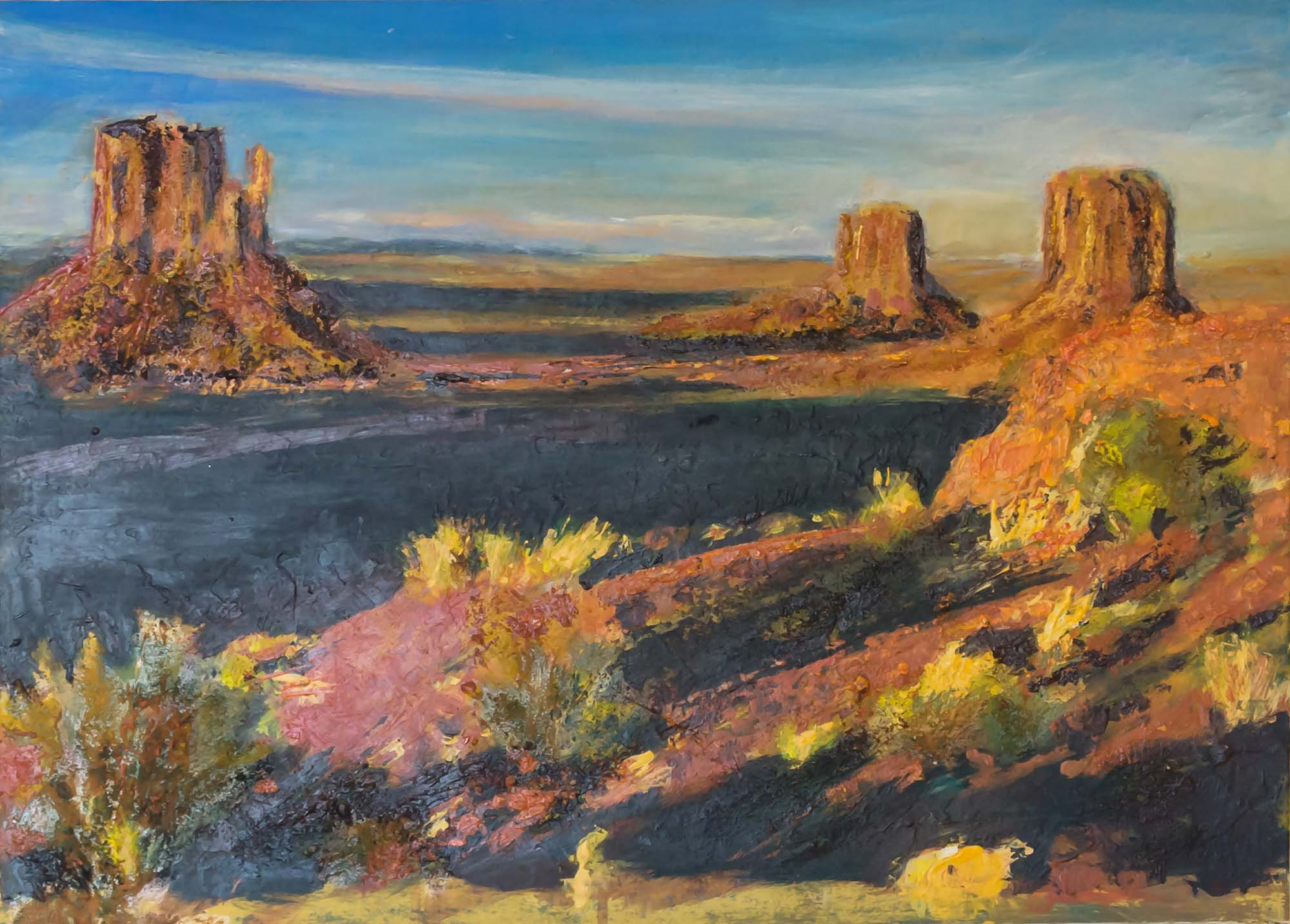 American Landscape with canyons and desert by Ria Kieboom