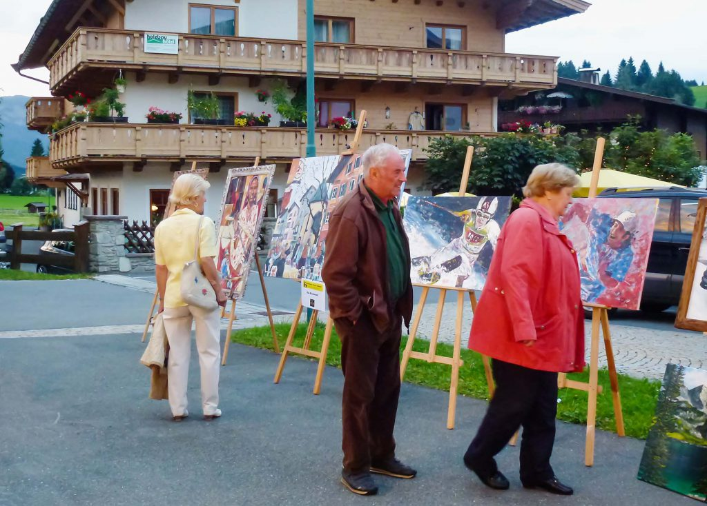 Outdoor exhibition in Reith, Austria